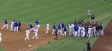 Madison Bumgarner, Yasiel Puig get into heated verbal altercation, benches clear