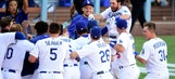 Vin Scully's final call at Dodger Stadium is a divison-clinching walk-off home run