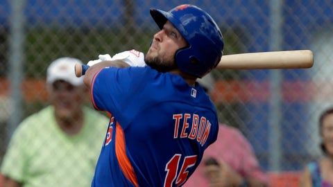 Tim Tebow total strikeouts during first 20 at-bats in the Arizona Fall League