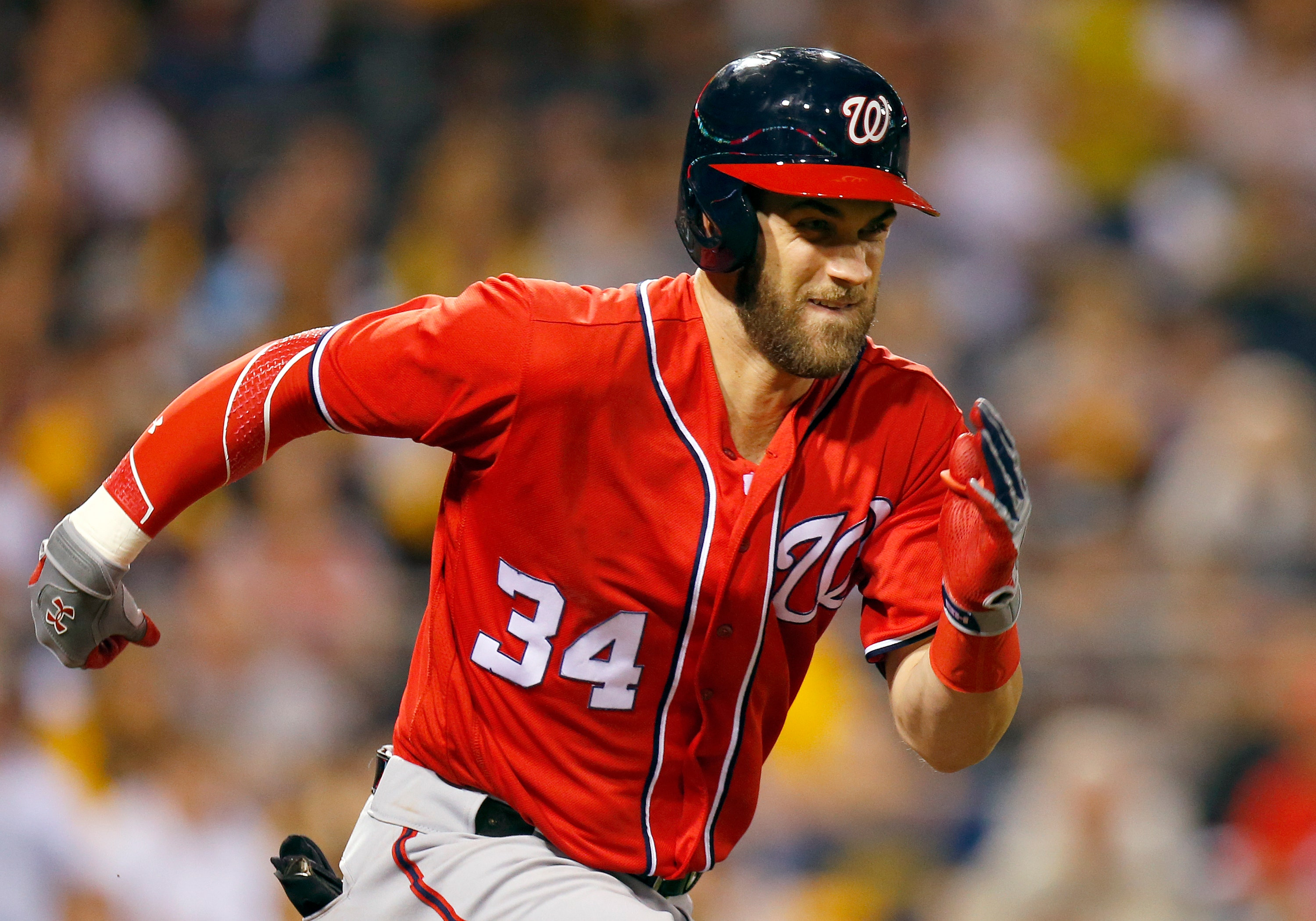 Bryce Aron Max Harper born October 16 1992 is an American professional baseball right fielder for the Washington Nationals of Major league baseball