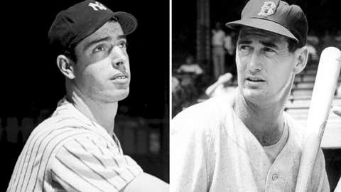Joe DiMaggio over Ted Williams, AL, repeatedly