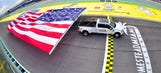 Ford resets record for Largest Flag Pulled by a Moving Vehicle