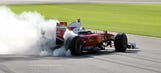 Watch Ferrari F1 drivers do burnouts at Daytona
