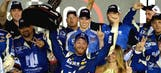 Dale Jr. dominates from the pole to win rain-delayed Daytona thriller