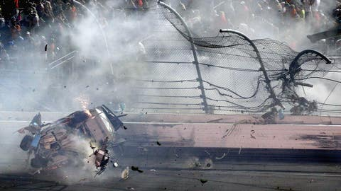 Frightening finish: Massive wreck mars end of Coke Zero 400 at Daytona