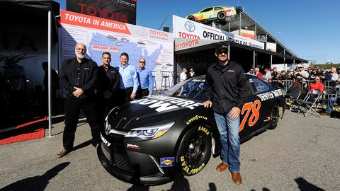 7. Good to see Furniture Row Racing get sponsorship from Bass Pro Shops