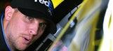 Denny Hamlin asks, NASCAR executive VP Steve O'Donnell quickly answers