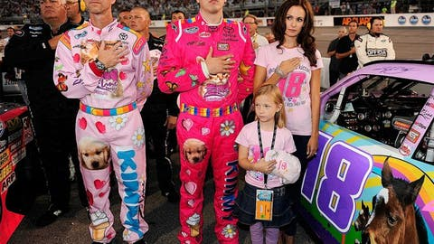 8. Kyle Busch -- Only a real man wears pink