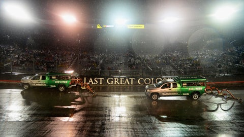Rainy night at Bristol Motor Speedway