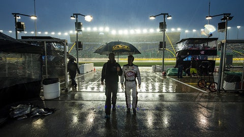 Most notable weather-delayed races