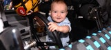 Kyle Busch's son tries out dad's first go-kart