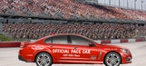 Retro graphics featured on pace car for Southern 500 at Darlington