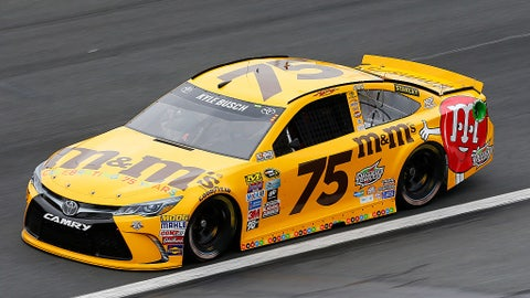 Kyle Busch, No. 75 M&M anniversary at Charlotte for All-Star weekend