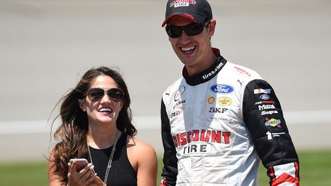 Joey and Brittany Logano