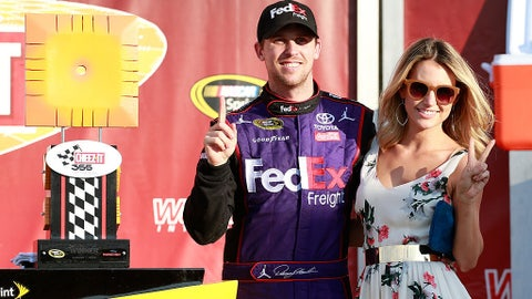 Denny Hamlin and Jordan Fish