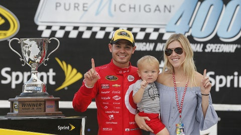Kyle Larson and Katelyn Sweet