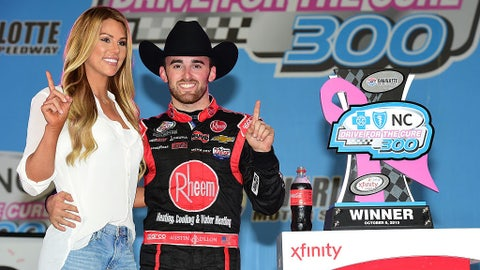 Austin Dillon and Whitney Ward