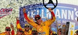 Joey Logano wins at Talladega to advance in Sprint Cup Chase