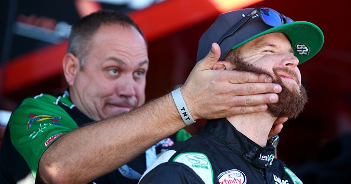 Xfinity series driver blake koch ditches his playoff beard for Koch xfinity driver