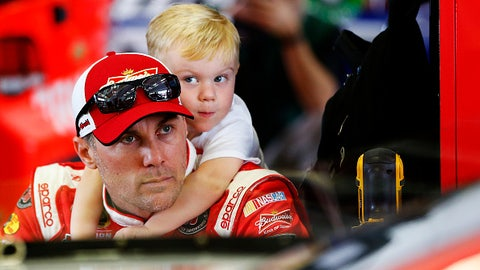 Kevin Harvick and son Keelan