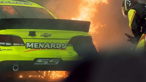 Photos: Paul Menard Car Fire