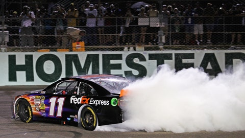 Denny Hamlin ends on a high note
