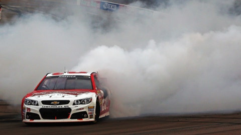 Happy Harvick burns it down