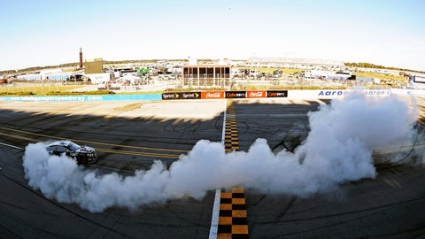 Jamie Mac's Dega-sized burnout