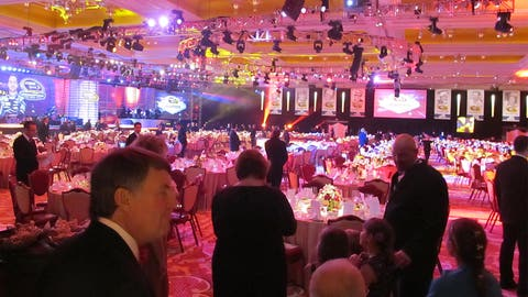 The NASCAR awards ceremony