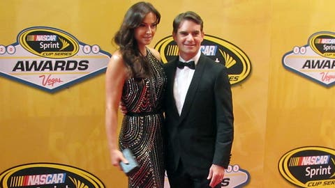 On the red carpet at the NASCAR awards ceremony