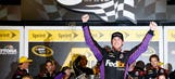 Almost the last man standing: Hamlin wins wreck-filled Sprint Unlimited