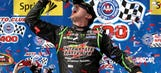 Kyle and Kyle show: Busch holds off Larson in wild Fontana finish