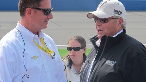 Pre-race in Fontana: Rick Hendrick
