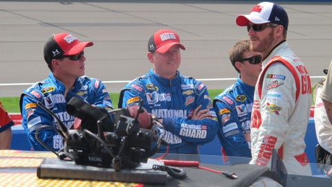 Pre-race in Fontana: Dale Earnhardt Jr.