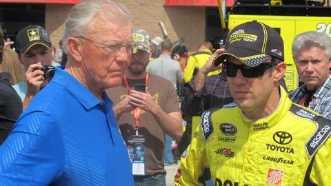Pre-race in Fontana: Joe Gibbs and Matt Kenseth