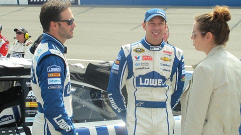 Pre-race in Fontana: Jimmie Johnson and Chad Knaus