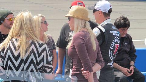 Pre-race in Fontana: Kevin and DeLana Harvick