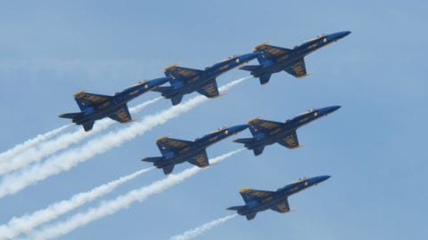 Pre-race in Fontana: The Blue Angels