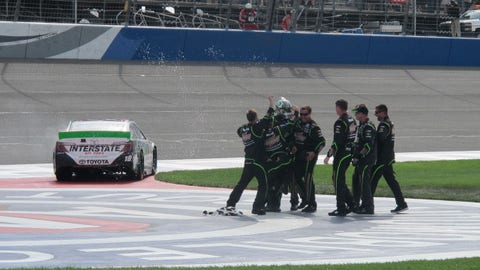Rowdy in Victory Lane: Kyle Busch wins Fontana