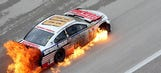 GIF It Up: Fire turns Dale Earnhardt Jr.'s No. 88 into Texas toast