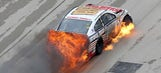 Photos: Dale Earnhardt Jr. crashes and catches fire at Texas Motor Speedway