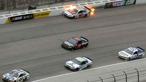 Dale Earnhardt Jr.'s fiery crash in Texas