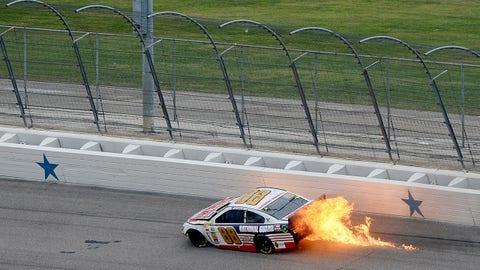 Dale Earnhardt Jr.'s fiery crash in Texas