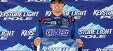 'Rowdy' Busch rumbles to Truck Series pole at Kansas