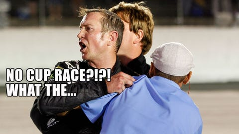 The five stages of a NASCAR Cup Series off-week
