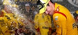 Joey Logano leads one-two Team Penske finish under lights at Bristol