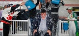 NASCAR president Helton takes part in the Ice Bucket Challenge
