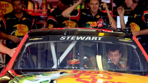 Tony Stewart's emotional first day back at the track