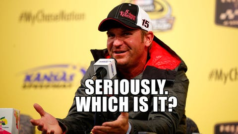 Clint Bowyer is a baby daddy