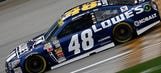 Hang on! Take a ride on the back of Jimmie Johnson's No. 48
